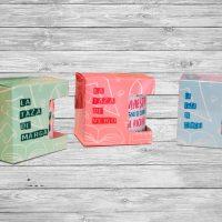 Tazas y caja personalizada